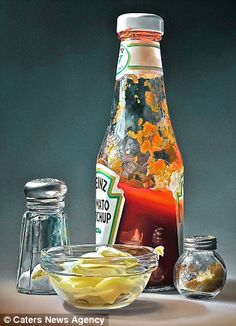 Mayonaise is a limited edition art print made by artist Tjalf Sparnaay. The print is a reproduction of his oil painting of the same name. Tjalf Sparnaay of Juan Sanchez Cotan, Tjalf Sparnaay, Culture Art, Hyper Realistic Paintings, Food Painting, A Level Art, Still Life Art, Good Enough To Eat, Art Graphique