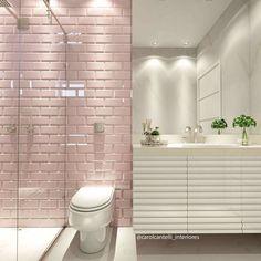E a revestimento fez aquelaaa diferença no banheiro...  {Projeto: @carolcantelli_interiores}