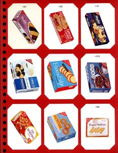 Nabisco Showcase - Page 03 - Late 1960's by JasonLiebig, via Flickr. I really was on a quest to find a photo of the old Nabisco Brown Edge Wafers box (center of this photo - can't believe this is the only photo out there!) In my search, I came across this collection - there are so many other old Nabisco cookies and snacks I'd forgotten about!