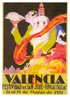 Affiches de fallas de Valencia 1931  http://www.naranjasibericas.es/