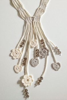 crochet necklace by Olive Oyl