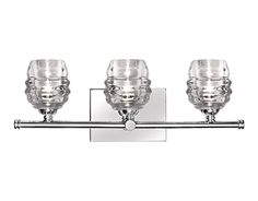 Kuzco VL52119-CH - Vintage but Modern Three Light LED Vanity with Die Cast Clear Gla