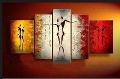 Santin Art-Dance With Me -Modern Canvas Art Wall Decor-Abstract Paintings Santin Art- Modern Abstract Paintings on Canvas Stretched and Framed Ready to Hang