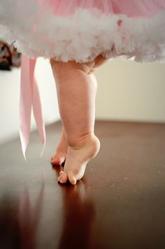 future ballerina... this would be so precious to frame in the nursery
