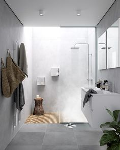 [New] The 10 Best Home Decor (with Pictures) – Lavabo estrecho sobre encimera In the bathroom. Bathroom Interior, Bathroom Storage, Modern Bathroom, Long Narrow Bathroom, Pallet House, Home Renovation, Home Goods, New Homes, House Design