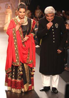 Shabana Azmi and Javed Akhtar on day 3 of the India International Jewellery Week 2013. #Bollywood #Fashion