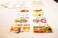 SOUTH AFRICAN POSTAGE STAMPS by Sonia Dearling, via Behance