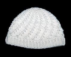 Free spiral crochet hat pattern - preemie pattern too! Spiral Crochet, Crochet Baby Hats, Crochet Beanie, Knit Or Crochet, Crochet Scarves, Crochet Crafts, Crochet Projects, Free Crochet, Knitted Hats