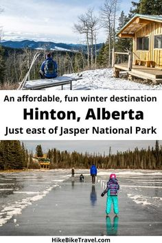 Hinton, Alberta - a fun, affodable winter playground just east of Jasper National Park #Hinton #crosscountryskiing #winterhiking #skating #winterfun #familyfriendly