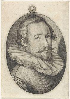 Portret van een man met een geplooide kraag, Jan Harmensz. Muller (verworpen toeschrijving), 1600 - 1699 Man, Fashion Art