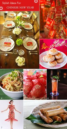 Asian New Year party ideas from table decor to food to what to wear! Chinese Theme Parties, Chinese New Year Party, New Years Party, Asian New Year, New Years Decorations, Chinese Decorations, Asian Party, Food Wishes, Food Challenge