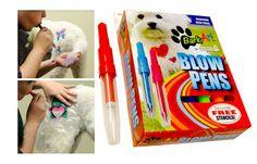Bark Art Blow Pens are fun color for pets. Halloween Items, Dog Halloween, Pet Shampoo, Designer Dog Clothes, Free Stencils, Companion Dog, Dog Coats, Dog Design, Dog Grooming