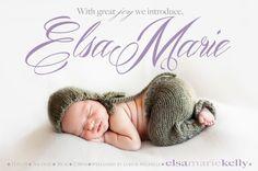 Photo baby girl birth announcement   custom baby by babybaloo, $16.57 announcement ideas