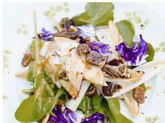Southern Pecan & Apple Salad from Jamie Oliver - beautiful colors for Thanksgiving table