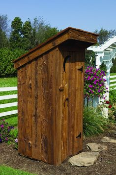Amish Yard - Outhouse Tool Shed (TO), $599.00 (http://www.amishyard.com/outhouse-tool-shed/)