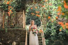 Photographer: Vanessa Hicks Photography | Venue: Haiku Mill | Event Planner: Heather Benge Events | Calligrapher: The Simple Flourish | Equipment Rentals: Set Maui | Bakery: Frosted by Pibeny | Apparel: Private Label Wedding Dresses Christine Nokta | Beauty: Love and Beauty Maui | Floral Designer: Maui Palm Tree Floral | Submitted via Two Bright Lights