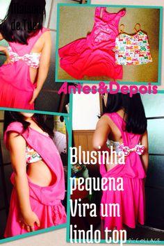 Blusa pequena virando um lindo top . Uma idéia para arrasar neste verão :)  #verão  #diy  #topfashion #maisondetye  #himatsubushi