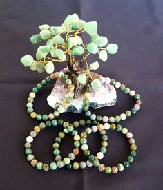 Genuine Fancy Jasper Bracelet 8mm Beads by LunaValleyCrystals