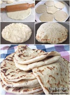 Bazlama Tarifi Armenian Recipes, Lebanese Recipes, Turkish Recipes, Naan, My Favorite Food, Favorite Recipes, My Recipes, Cooking Recipes, Arabian Food