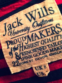Jack Wills woven label