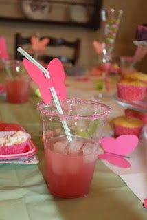 Age does not matter to butterflies :) 6 year old girls pink and green butterfly birthday party!