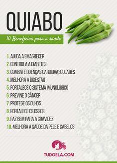 Os 10 surpreendentes benefícios do quiabo para a saúde #saúde #bemestar #nutrição #educaçãoalimentar #comerbem #dieta #tudoela