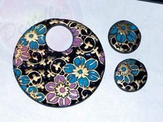 Cupcake Corner: How to imitation cloisonne in polymer clay