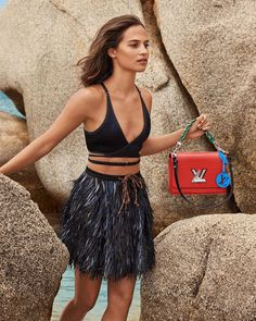 A tribute to daring pursuits. Alicia Vikander was photographed with a Twist bag in Corsica by Craig McDean for the Campaign. See more via link in bio. Louis Vuitton Dress, Buy Louis Vuitton, Louis Vuitton Twist, Alicia Vikander Style, Alicia Vikander Bikini, Michael Fassbender And Alicia Vikander, Bikini Inspiration, Swedish Actresses, Craig Mcdean
