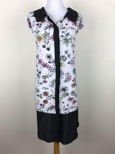 Melissa McCarthy Seven 7 Dress Size 4X Novelty Print Floral People Cars Houses #MelissaMcCarthySeven7 #ShiftDress
