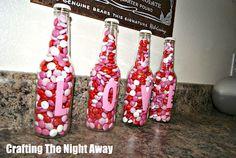 Valentines LOVE bottles!!