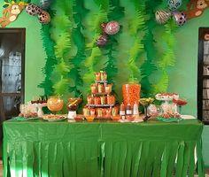 Mesa de fruta y botanas fiesta safari (8 años Iyani)