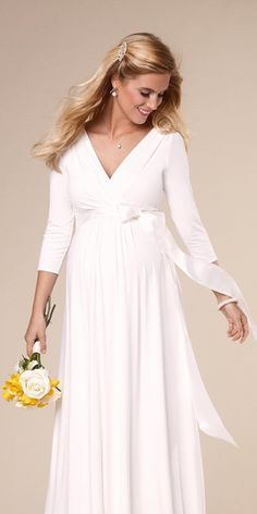 15 Maternity Wedding Dresses For Moms-To-Be ❤ See more: http://www.weddingforward.com/maternity-wedding-dresses/ #wedding #maternity #dresses