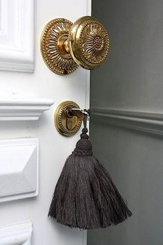 Gold door knobs