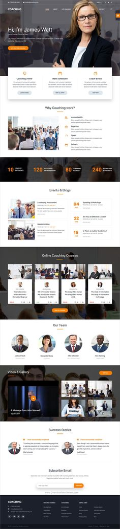 Coaching is clean and modern design responsive #bootstrap template for #speaker, #life & health #coach website download now..