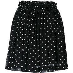 Ganni Monette polka dot skirt ($115) ❤ liked on Polyvore featuring skirts, black, rayon skirt, dot skirt, polka dot skirts and ganni