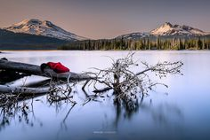 Lady in Red Sparks Lake by Attilio Ruffo on 500px