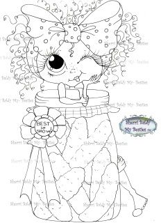 """Sherri Baldy Digi Stamps  You can adopt this  """"Bestie"""" :-)   ******Have fun crafting******  This is for the black and white line art digi stamp only.  You may use the images to create and sell handmade/colored cards and projects; please give credit to *Sherri Baldy* for the image used in the project or product.   ****What I ask: Please do not *redistribute*, *share*, *duplicate*, *re-sell*, or *copy* any of my digi doodle stamp images.****  ****Please do not post them online except as part…"""