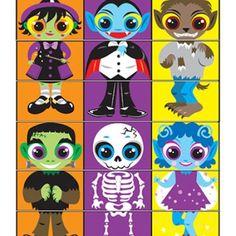 Halloween Jogos para Imprimir - Constroi o teu Monstro! - Brinquedos de Papel