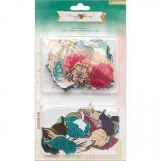 Open Book Cardstock Die-Cuts - Floral Ephemera Flowers & Leaves