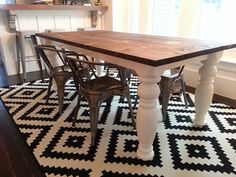 Dining table makeover.