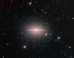 "Sombrero Galaxy surrounded by globular clusters. (Credit: Rolf Wahl Olsen) A globular cluster is a group of stars closely bound together by gravity. They orbit the cores of galaxies. The Sombrero may have 1900 of them. ©Mona Evans, ""What Is a Galaxy"" http://www.bellaonline.com/articles/art179279.asp"