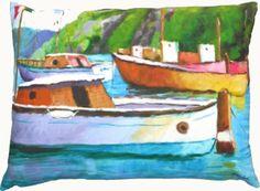 Capri Harbor by Robin Rowe PILLOW, 12 x 20