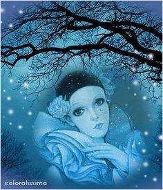 Le Clown, Clown Mask, Pierrot, Romantic Images, Beautiful Images, Illustrations, Illustration Art, Vintage Clown, Art Journal Prompts