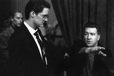 Frank Silva (Killer BOB), Kyle MacLachlan (FBI Special Agent Dale Cooper) & director David Lynch on the set of Twin Peaks: Fire Walk With Me. Photo by Richard Beymer (a.k.a. Ben Horne).