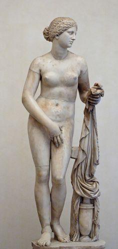 Aphrodite of Nidos. ancient Greek sculptor Praxiteles of Athens (4th century BC)