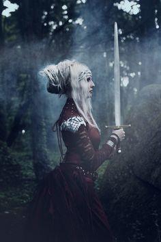 Model: Angélica Elfic Outfit: Elfic Wear Photo \ Edition \ MUA: Eleán'Art #fashion #pagan #elf #elvish #nature #photography #model #dreadlocks #dreads #medieval #Celtic #blondhair #fantasy #costume #larp #armour #armor #sword #epic #tolkien #whitehair #forest #elves #elficwear #angelicaelfic #braid #braids #longhair #hairstyle #female #horns #antlers #headpiece #maleficent #staff #wizard #wand #dragonscale #chainmail