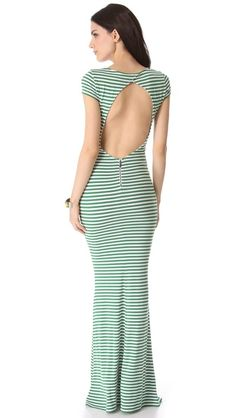 Now this is a maxi dress. alice + olivia Orli Open Back Maxi