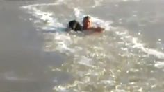 Awesome Man Swims Through Frozen Lake to Save His Dog (VIDEO)