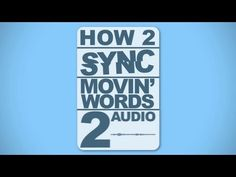 How to Sync Motion Typography to Audio - Adobe After Effects Tutorial - YouTube