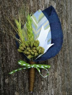 Finn Preppy chic boutonniere by PixelandHank on Etsy, $16.00